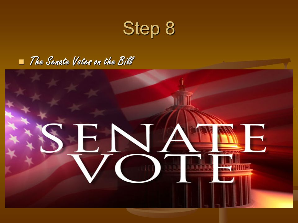 Step 8 The Senate Votes on the Bill