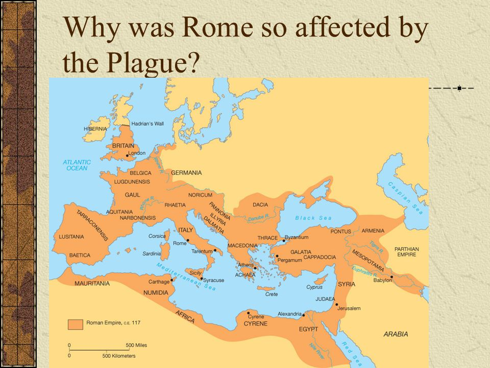 Why was Rome so affected by the Plague