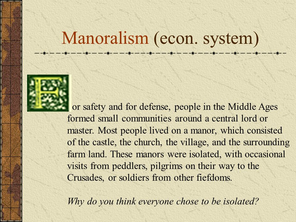 Manoralism (econ. system)