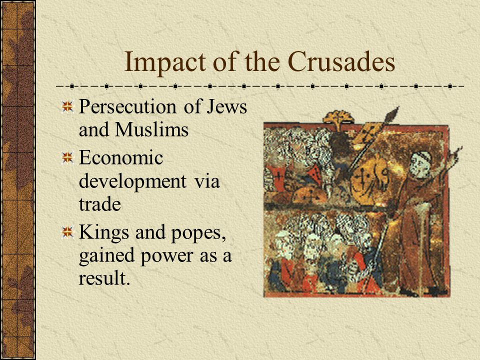 Impact of the Crusades Persecution of Jews and Muslims