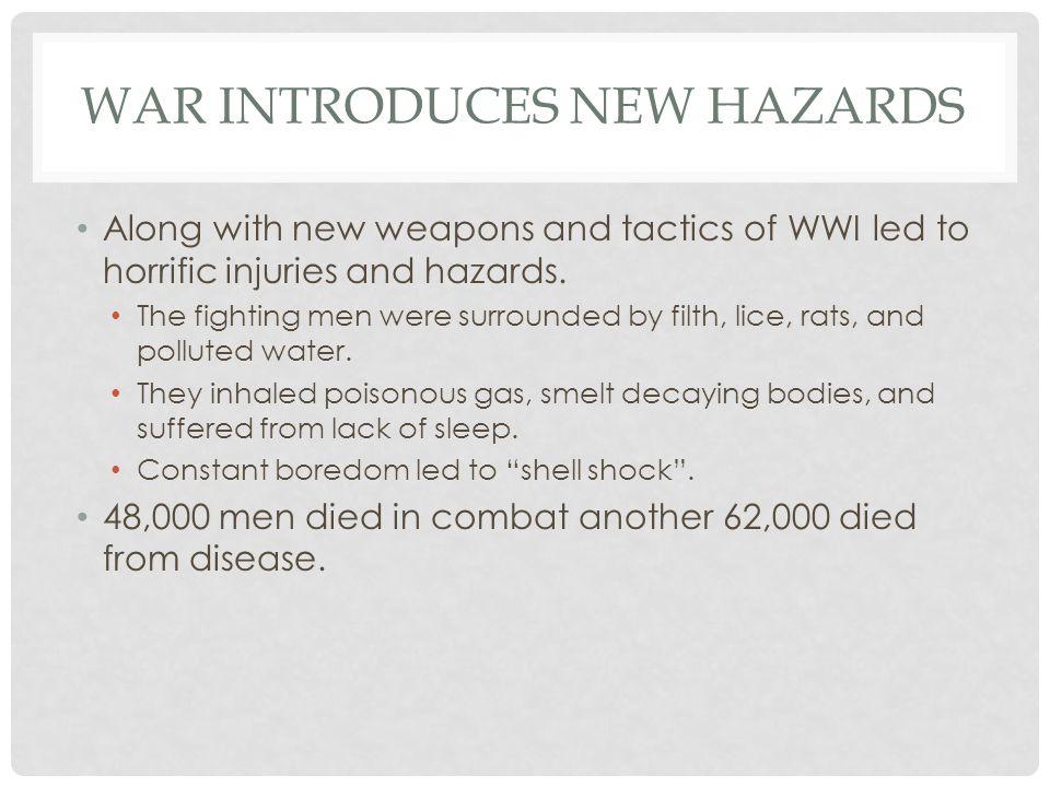 War Introduces New Hazards