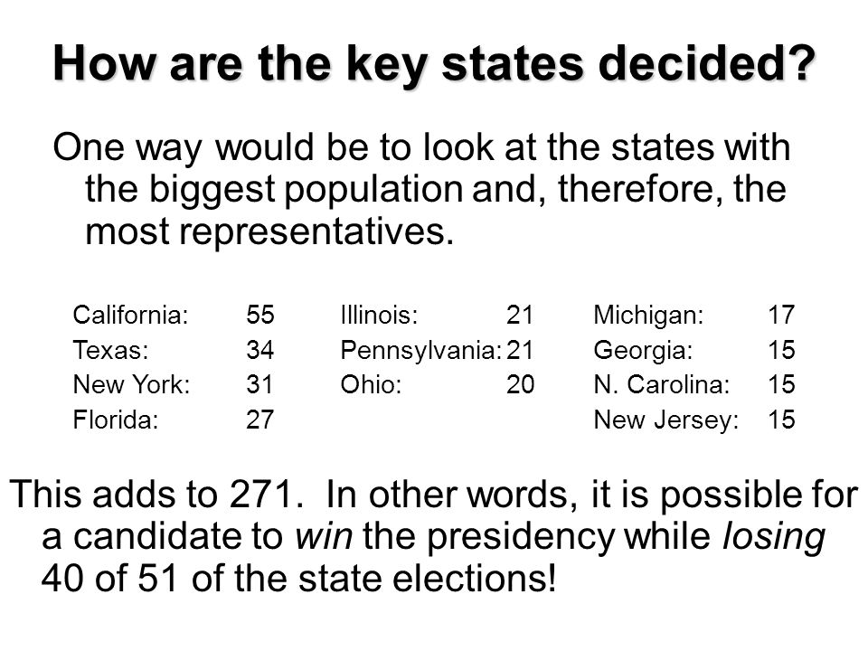How are the key states decided
