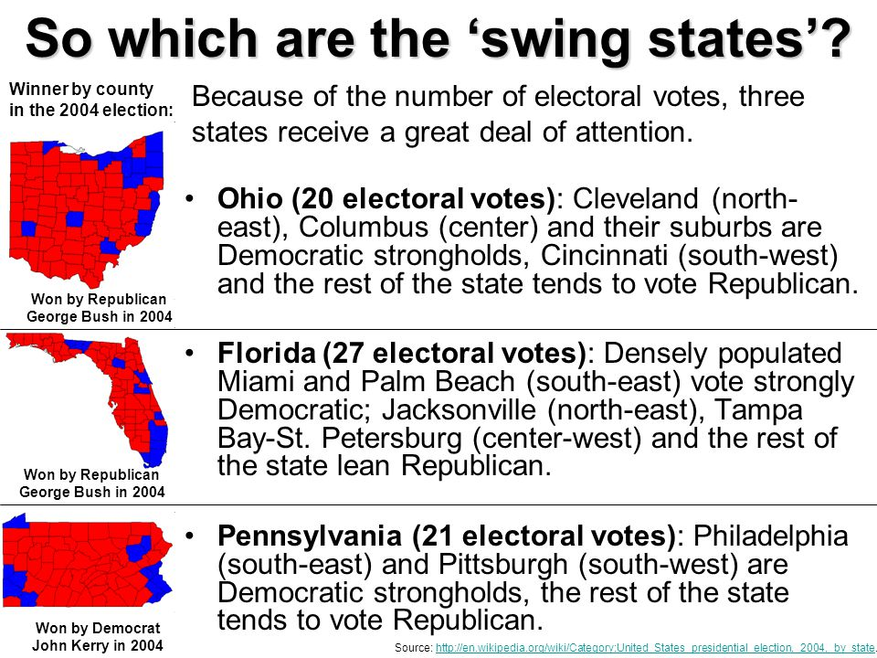 So which are the 'swing states'