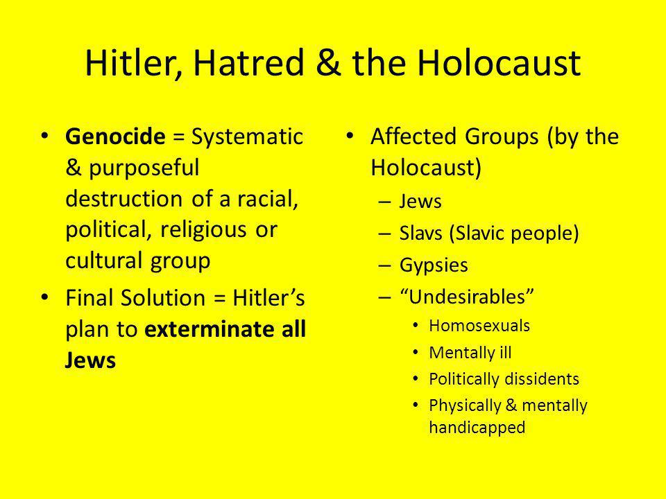 Hitler, Hatred & the Holocaust