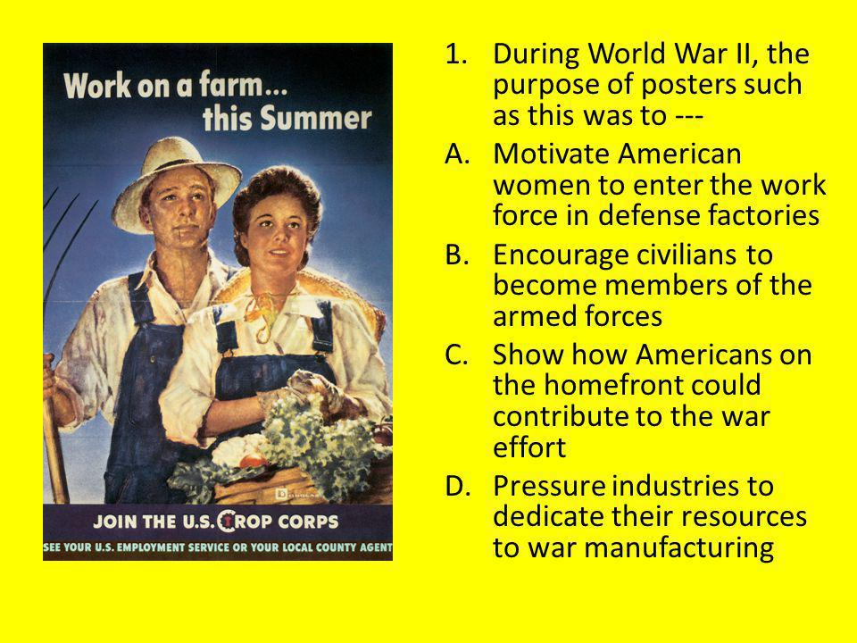 During World War II, the purpose of posters such as this was to ---