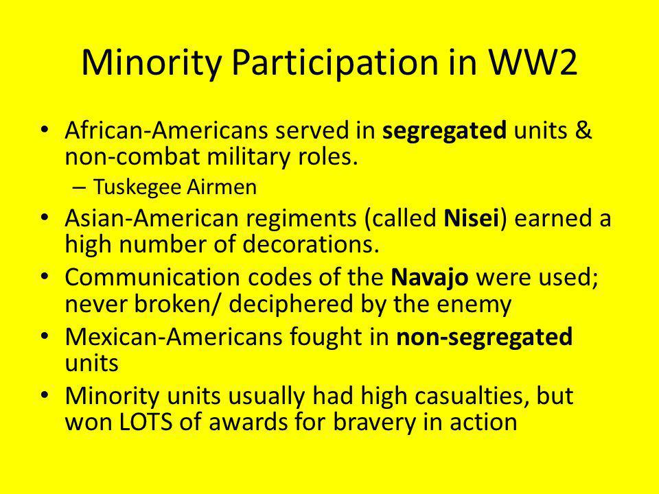 Minority Participation in WW2