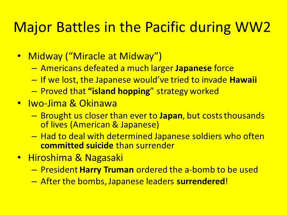Major Battles in the Pacific during WW2