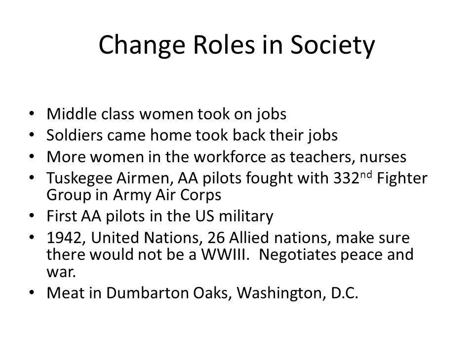 Change Roles in Society