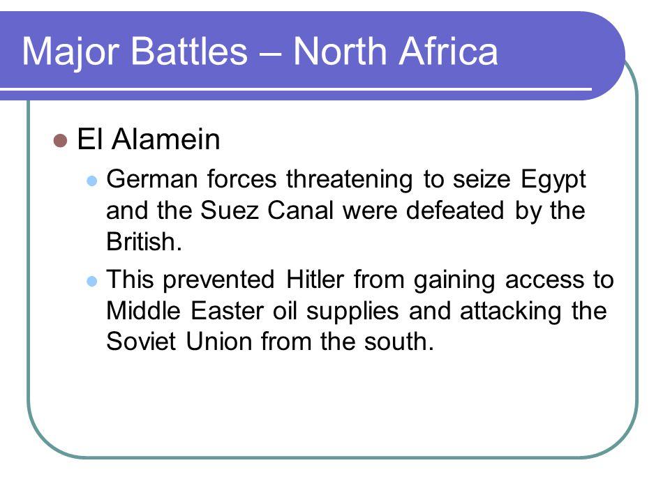 Major Battles – North Africa
