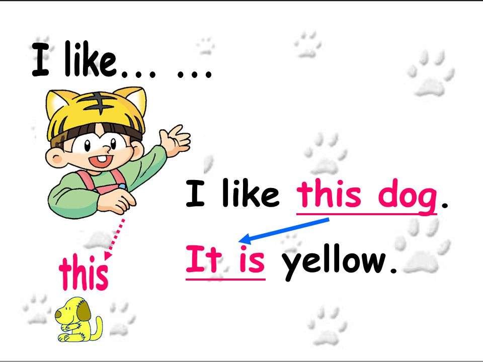 I like... ... I like this dog. It is yellow. this
