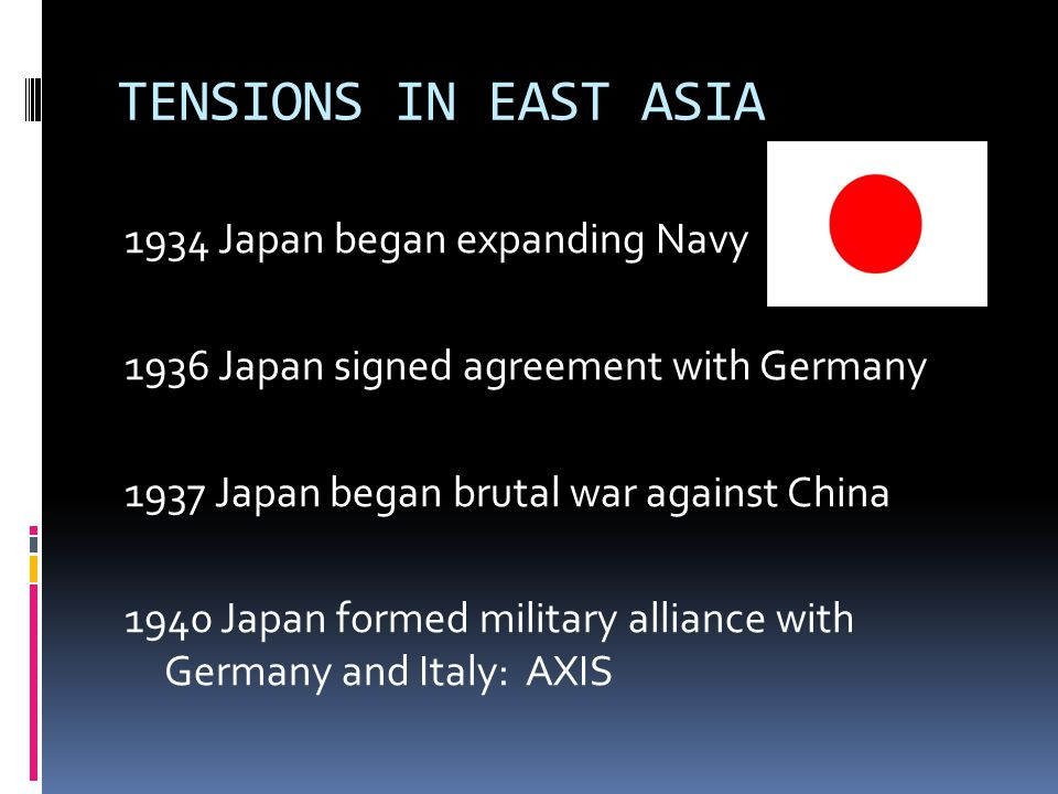TENSIONS IN EAST ASIA