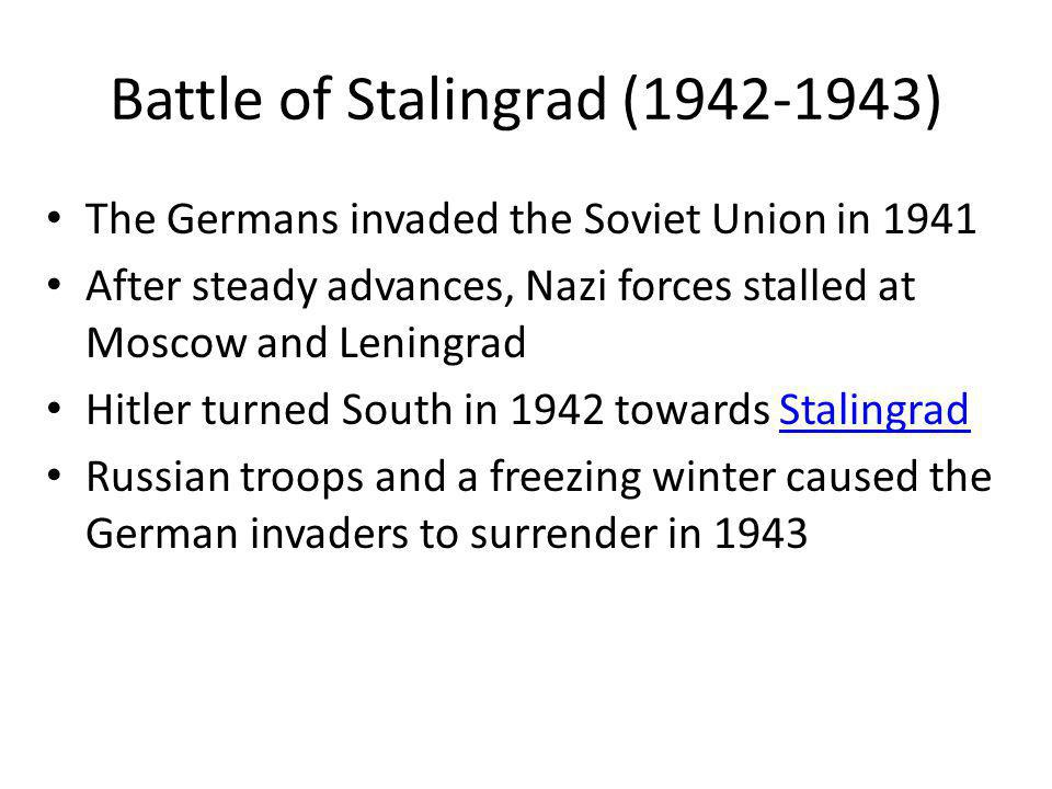 Battle of Stalingrad (1942-1943)