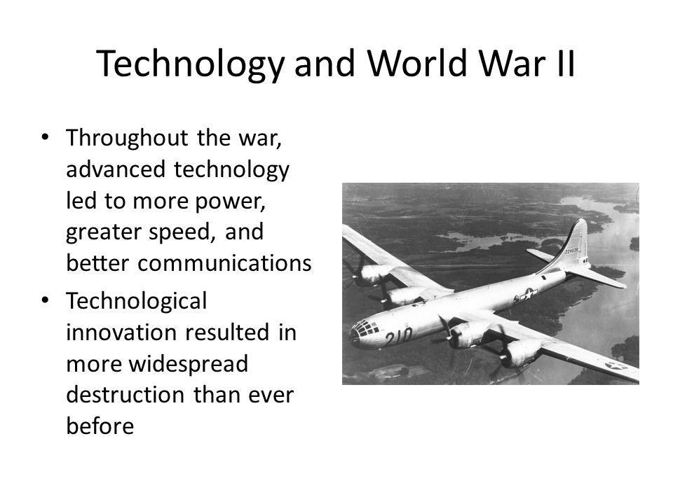 Technology and World War II