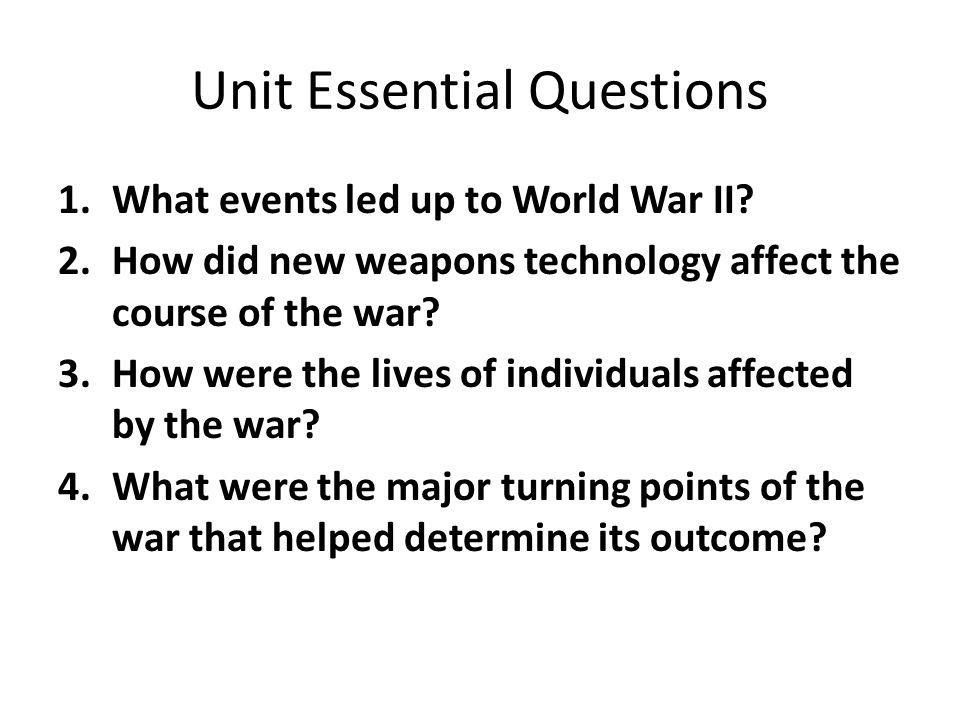 Unit Essential Questions
