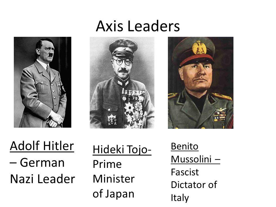 Axis Leaders Adolf Hitler – German Nazi Leader