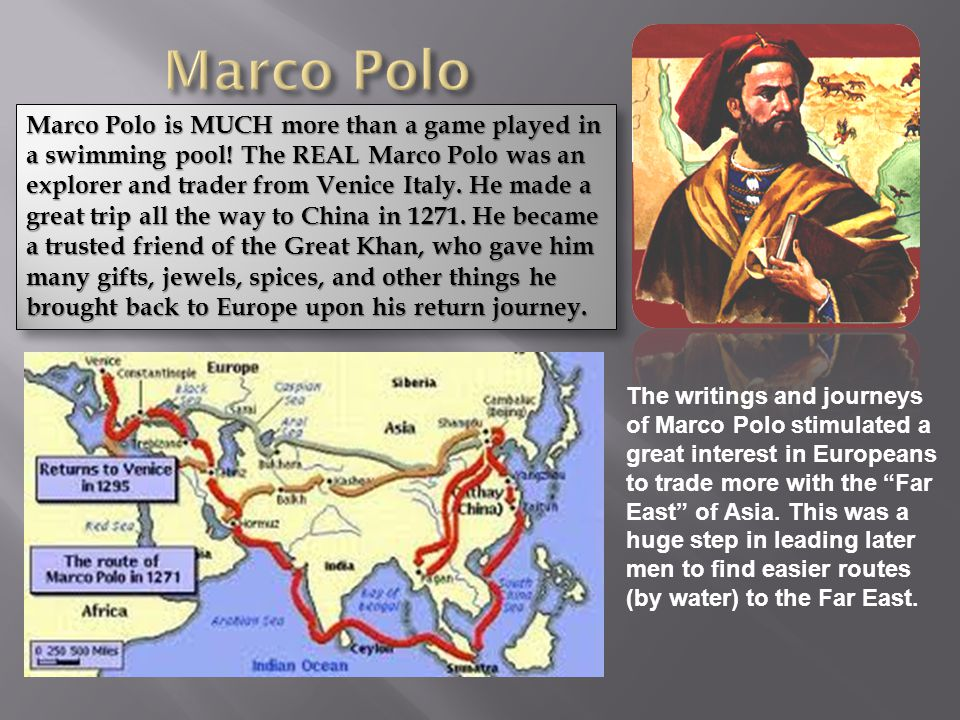 history of marco polo Find out more about the history of marco polo, including videos, interesting articles, pictures, historical features and more get all the facts on historycom.