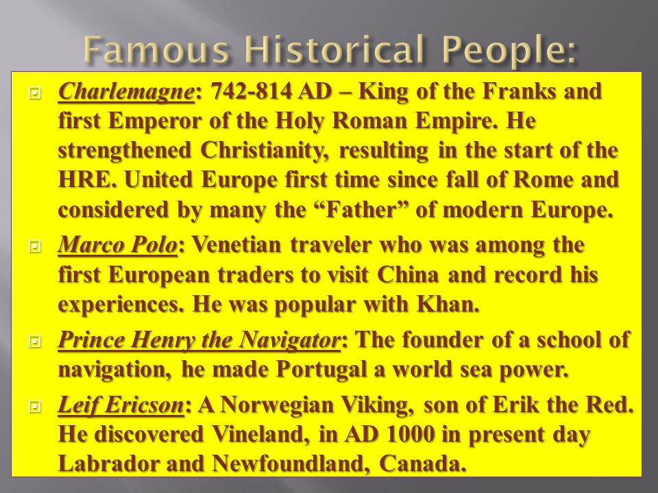 Famous Historical People: