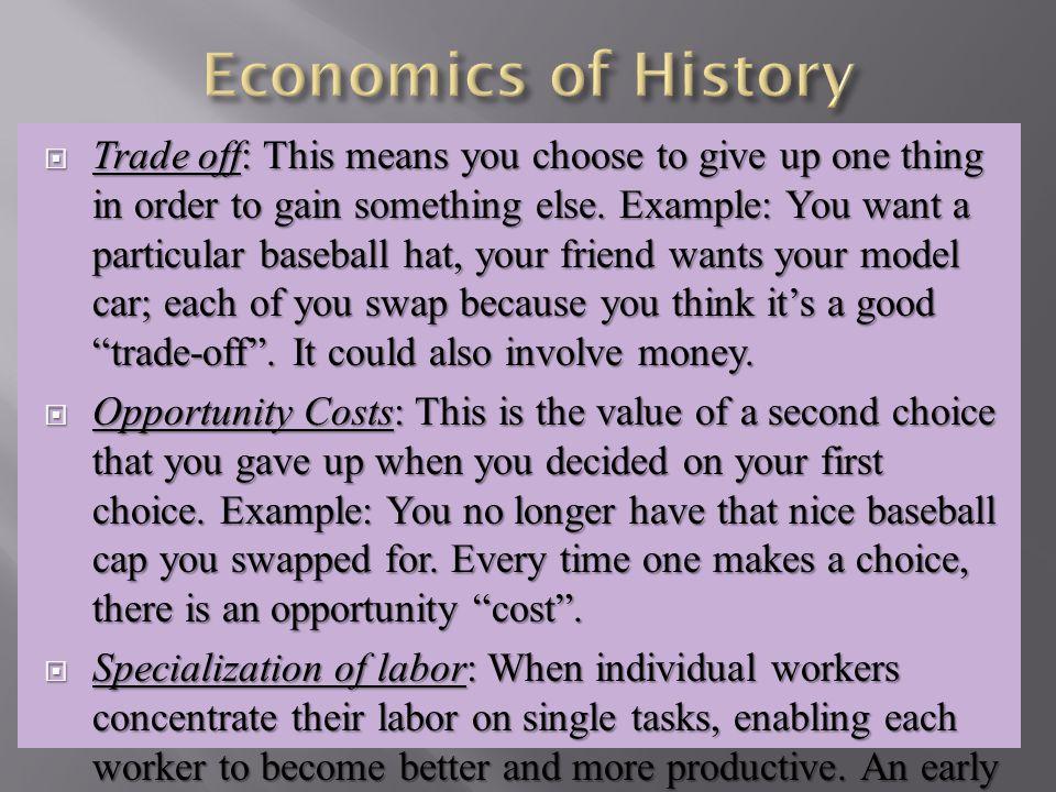 Economics of History