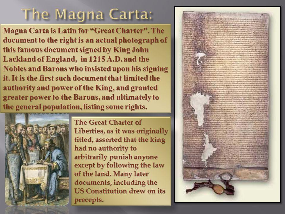 The Magna Carta:
