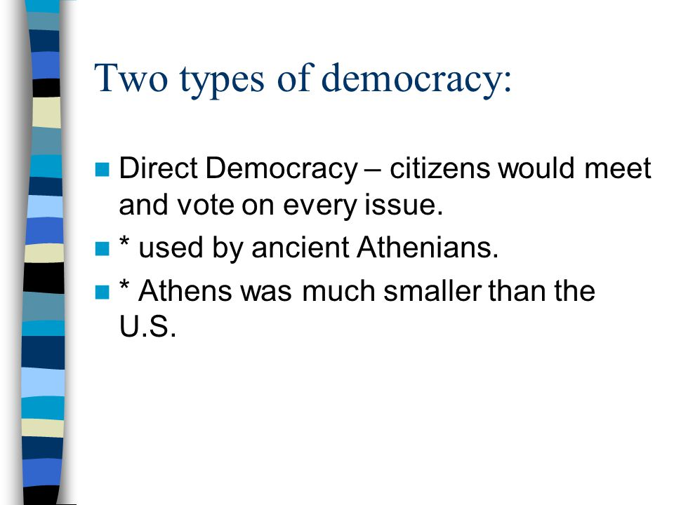 Two types of democracy: