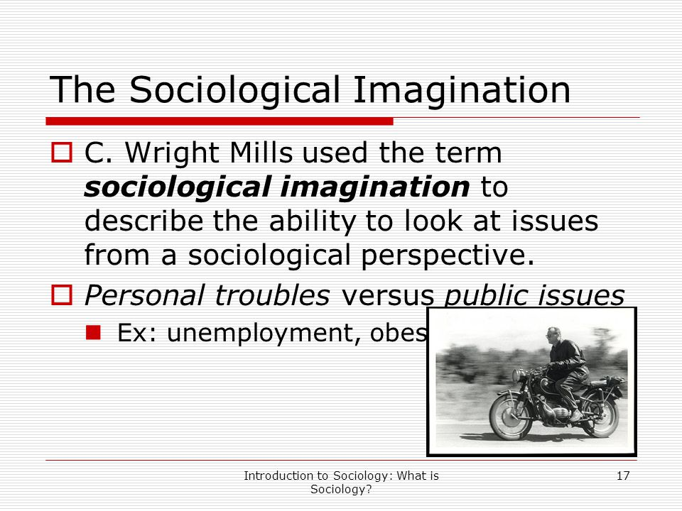 The Sociological Imagination