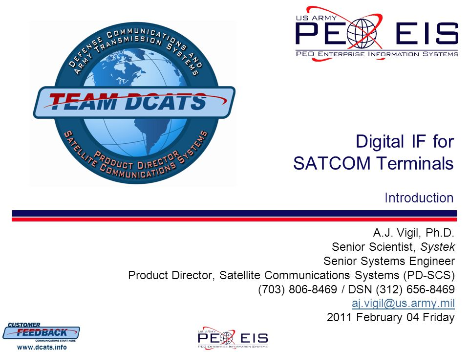 Digital IF for SATCOM Terminals Introduction