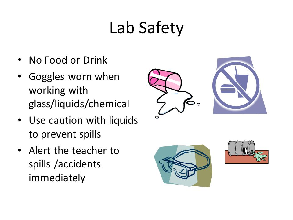 Lab Safety No Food or Drink