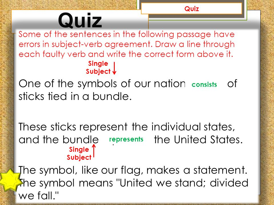 Subject verb agreement ppt video online download subject verb agreement 48 quiz platinumwayz