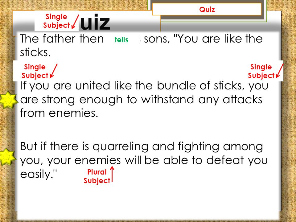 Quiz Quiz. Single Subject.