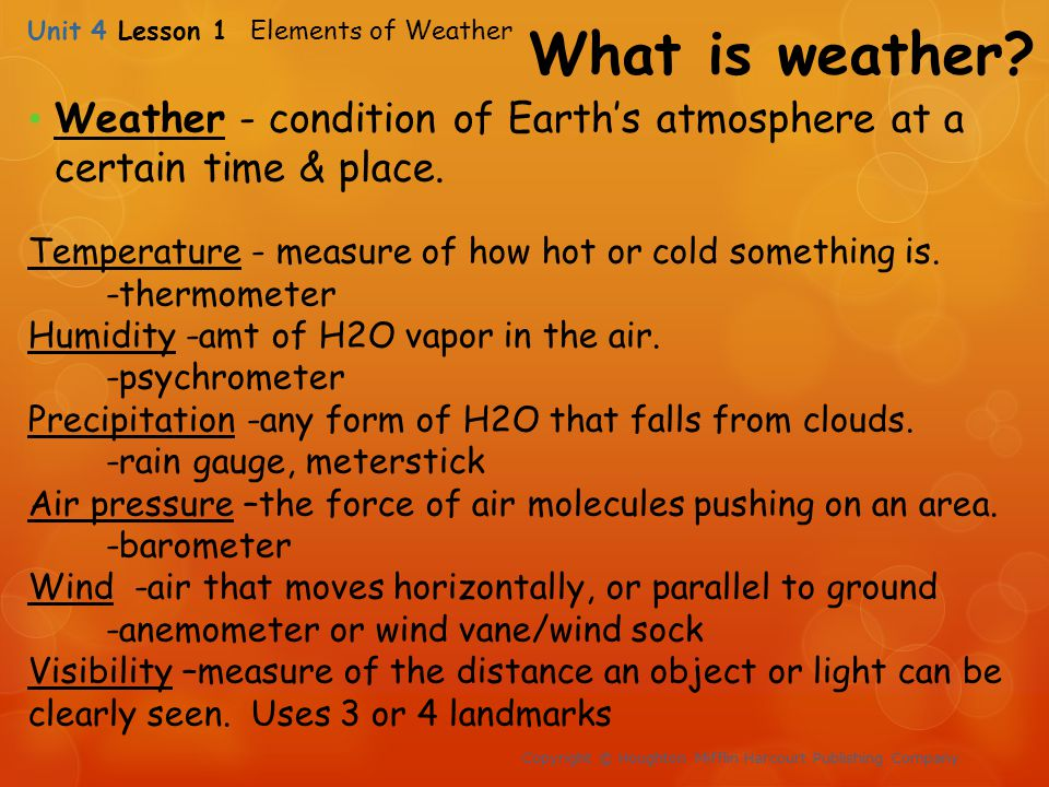 Unit 4 Weather And Climate Ppt Video Online Download