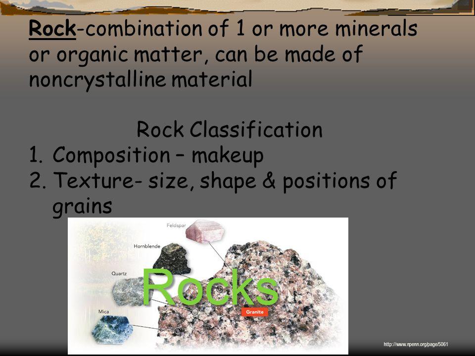 Texture- size, shape & positions of grains