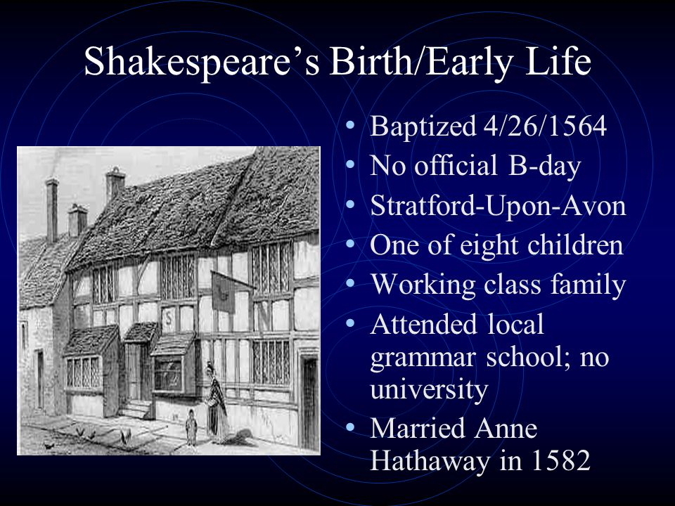 Shakespeare's Birth/Early Life