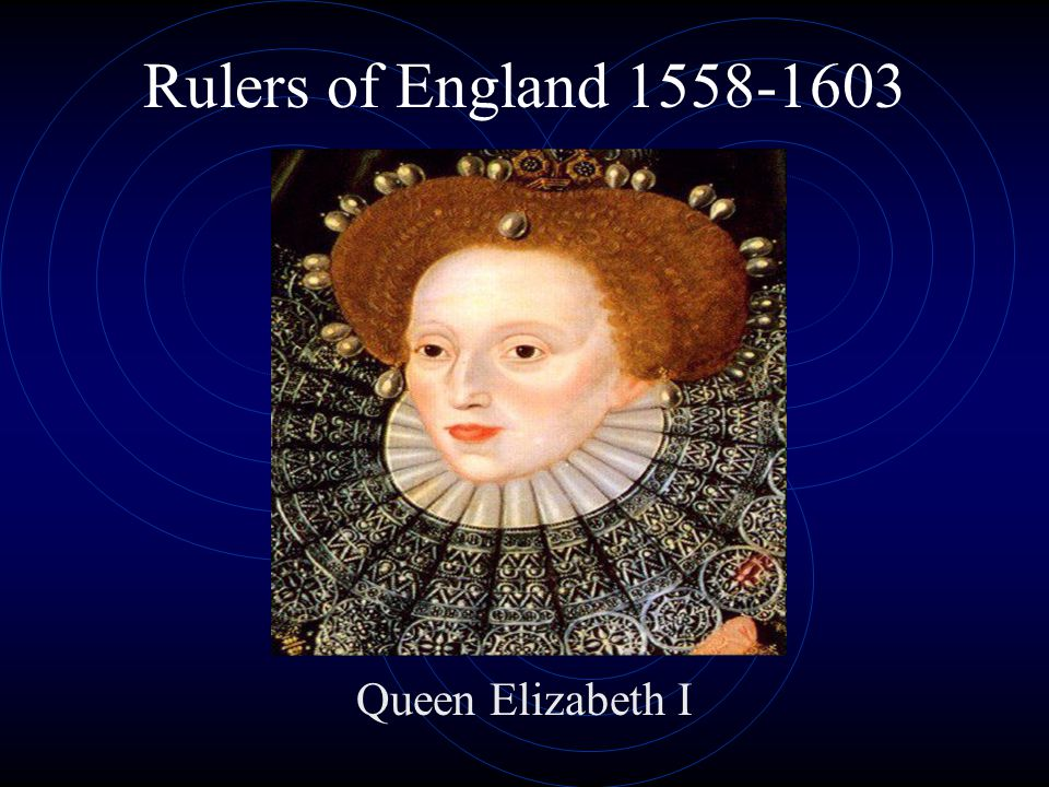 Rulers of England 1558-1603 Queen Elizabeth I