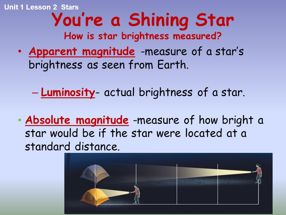 You're a Shining Star How is star brightness measured
