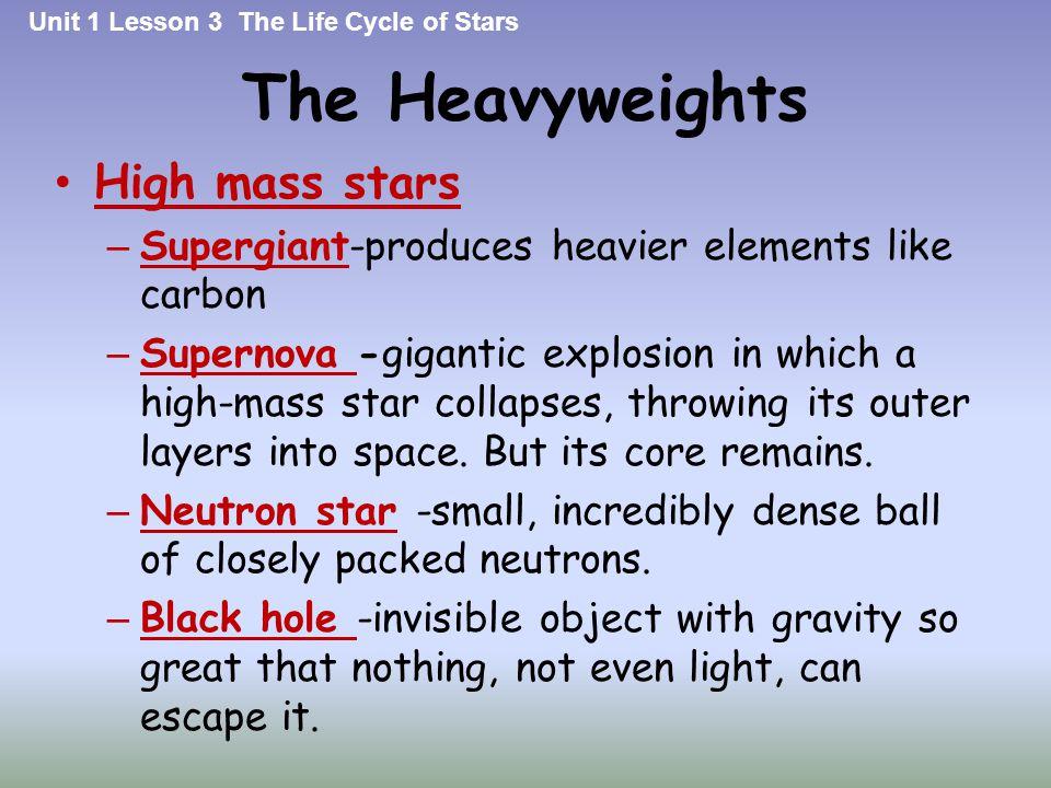 The Heavyweights High mass stars
