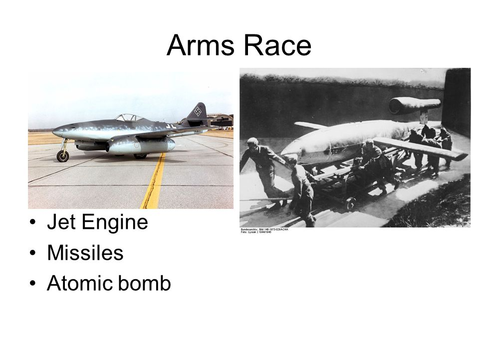 Arms Race Jet Engine Missiles Atomic bomb