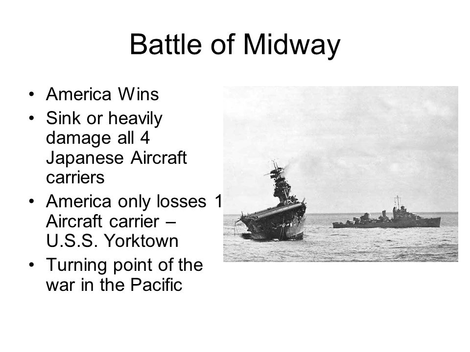 Battle of Midway America Wins