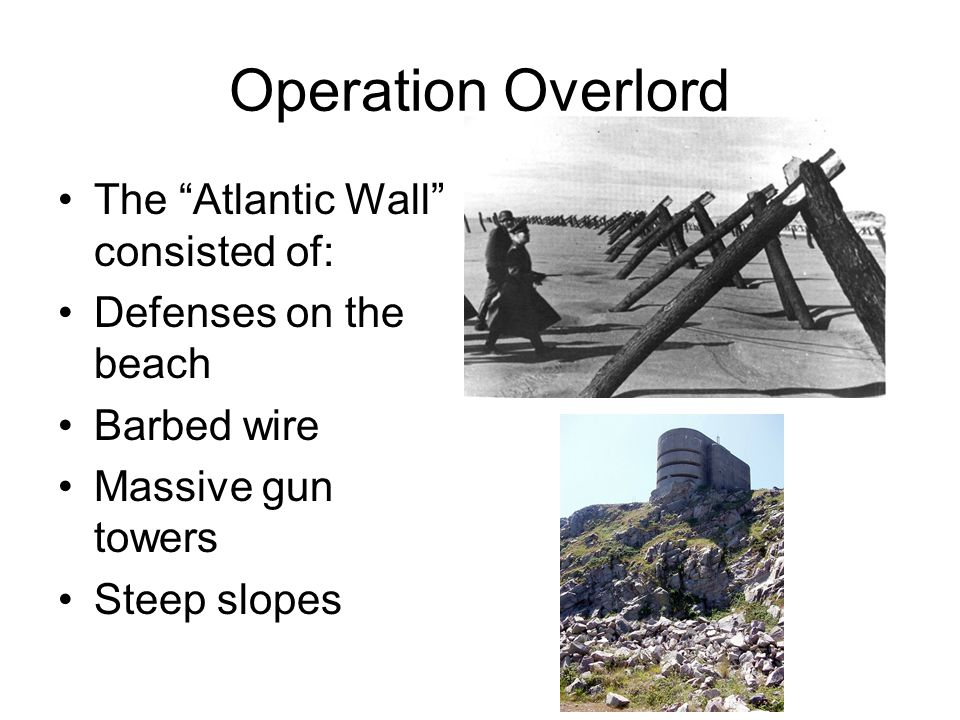 Operation Overlord The Atlantic Wall consisted of: