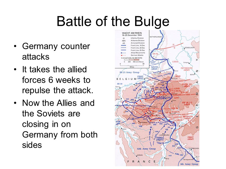 Battle of the Bulge Germany counter attacks