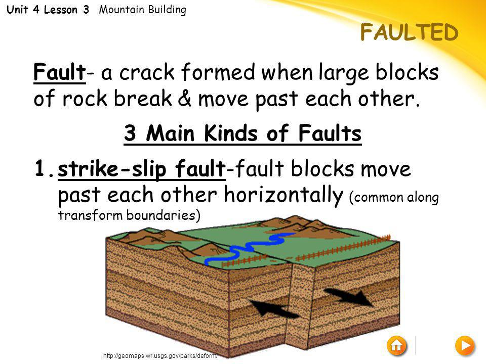 Unit 4 Lesson 3 Mountain Building