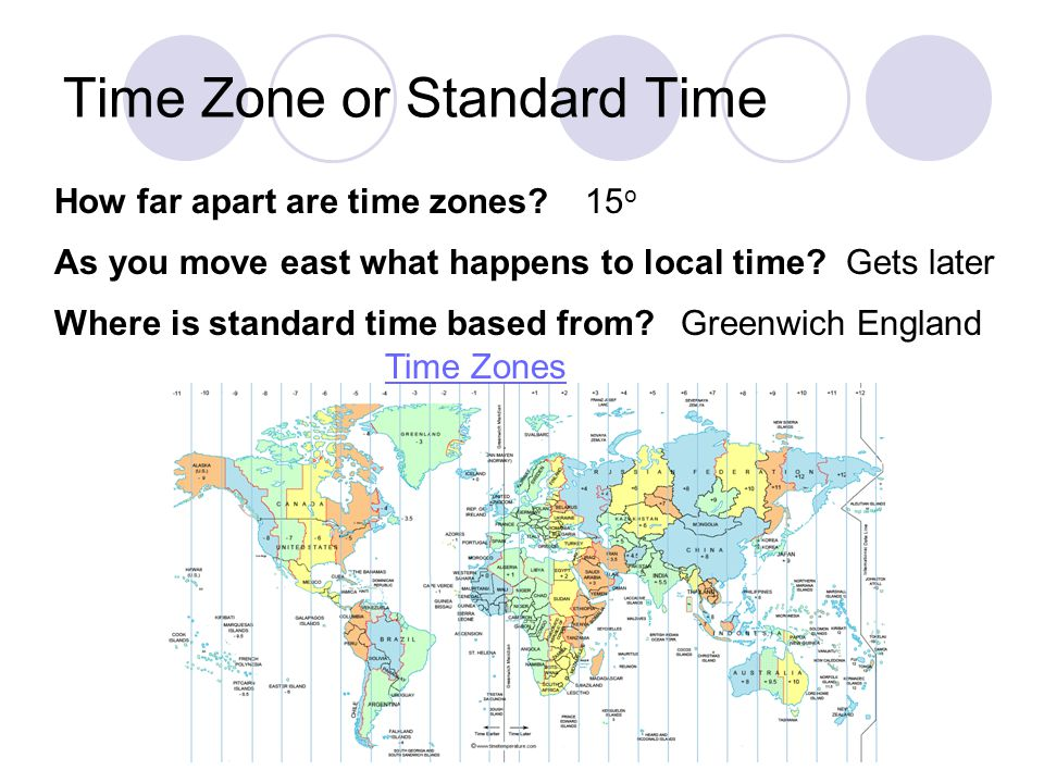 Time Zone or Standard Time