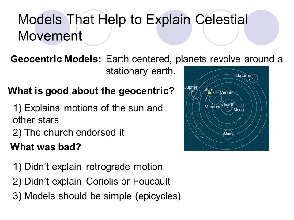 Models That Help to Explain Celestial Movement