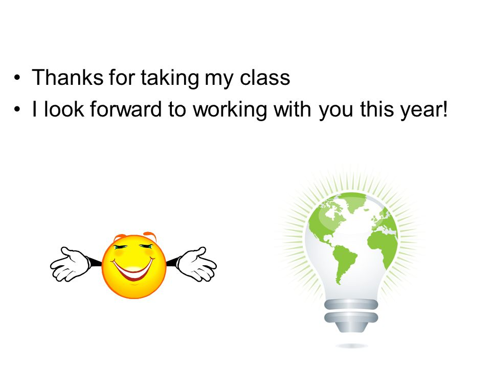 Thanks for taking my class