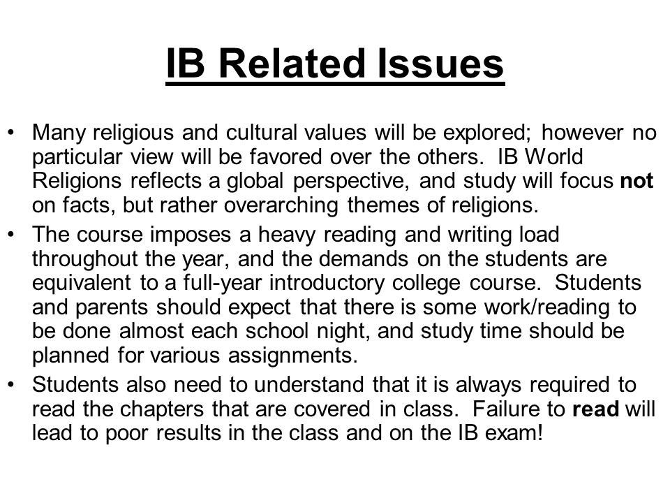 IB Related Issues