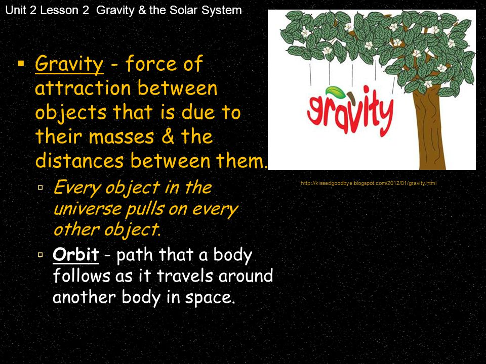 Unit 2 Lesson 2 Gravity & the Solar System