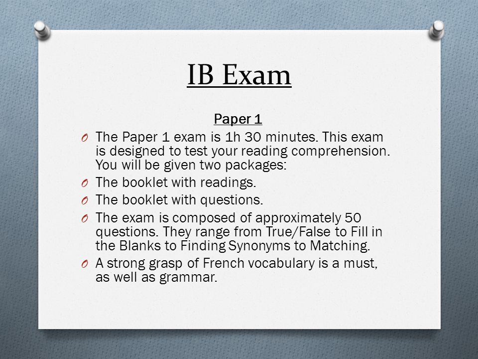 how to prepare for an ib french exam