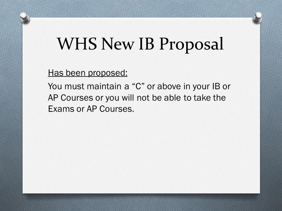 WHS New IB Proposal