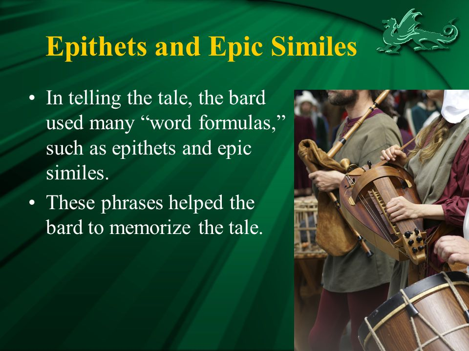 Epithets and Epic Similes