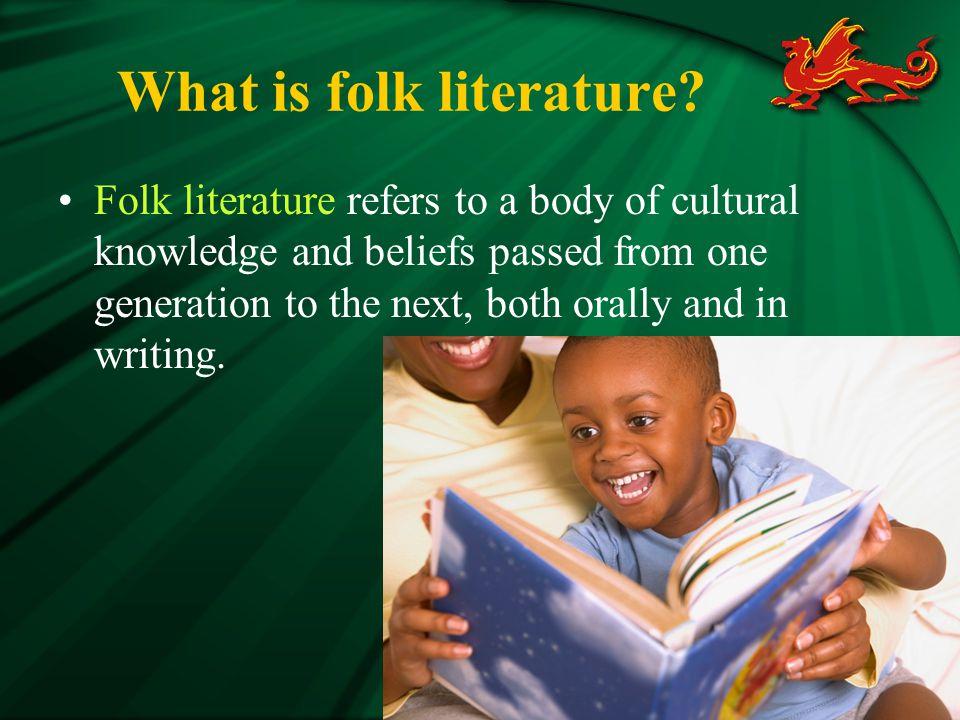 What is folk literature