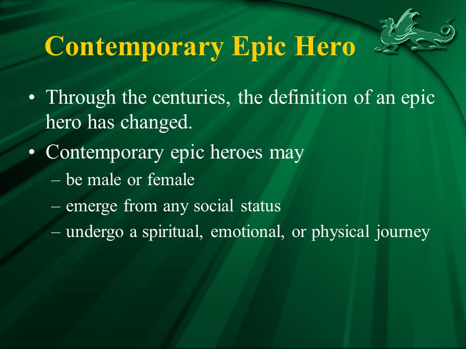 Contemporary Epic Hero